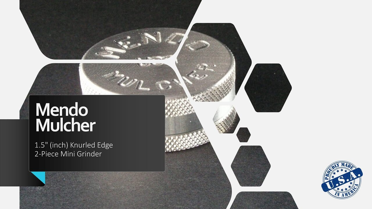 "Mendo Mulcher 1.50"" (inch) 2-Piece Screenless Mini Grinder Facebook OG"