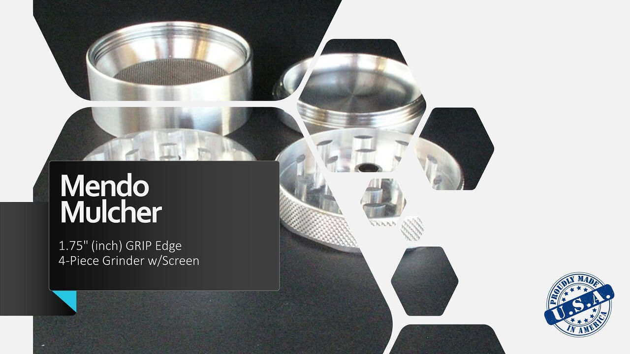 "Mendo Mulcher 1.75"" (inch) 4-Piece Screened Grinder"