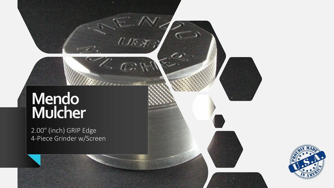 "Mendo Mulcher 2"" (inch) 4-Piece Screened Grinder"