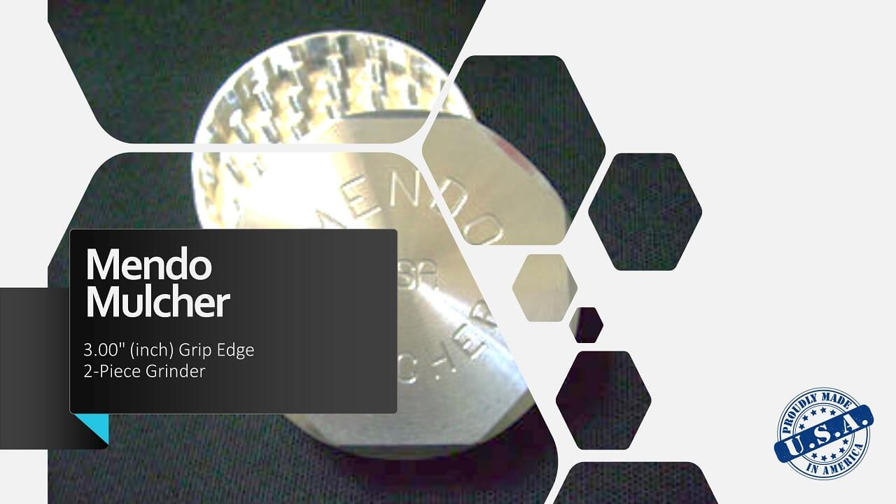 "Mendo Mulcher 3.00"" (inch) 2-Piece Screenless Grinder Facebook OG"