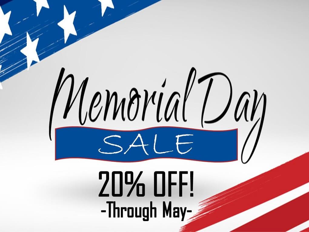 Memorial Day Sale Banner Desktop